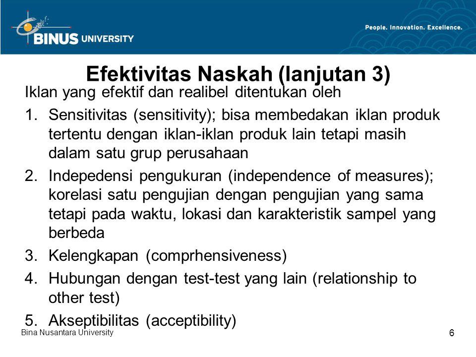 Efektivitas Naskah (lanjutan 3)