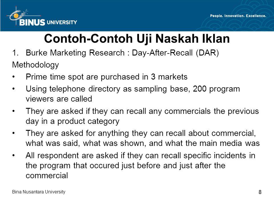Contoh-Contoh Uji Naskah Iklan