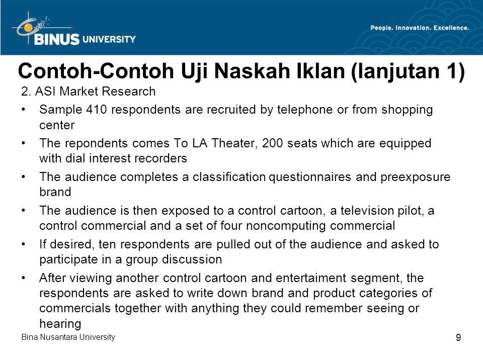 Contoh-Contoh Uji Naskah Iklan (lanjutan 1)