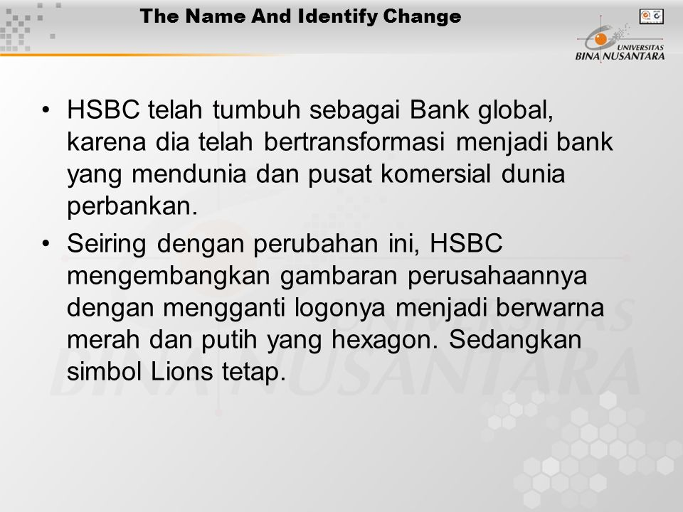 The Name And Identify Change