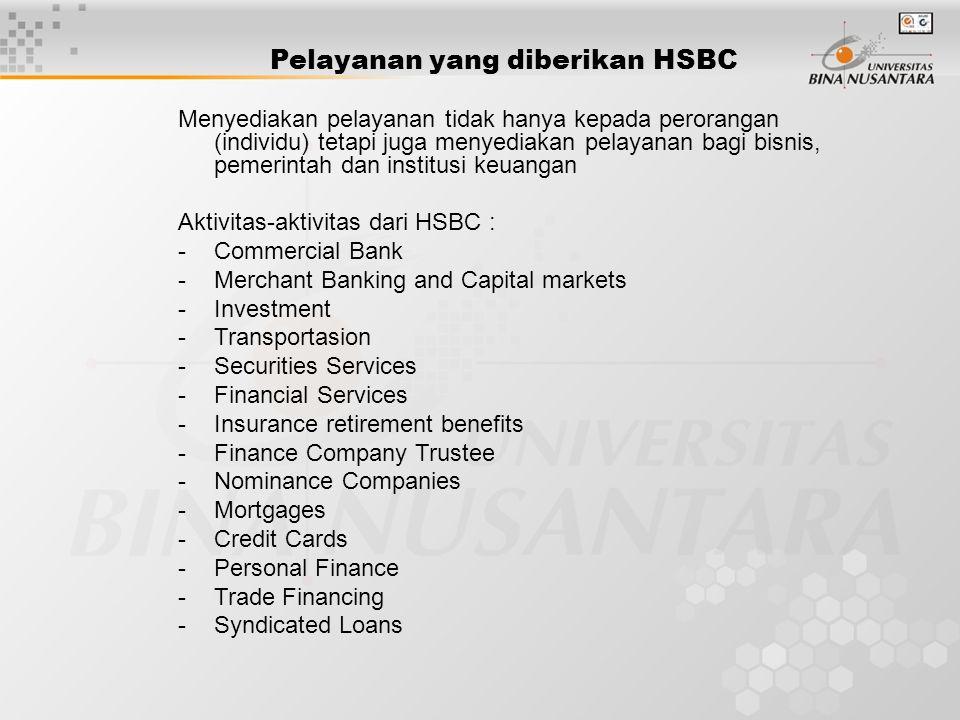 Pelayanan yang diberikan HSBC