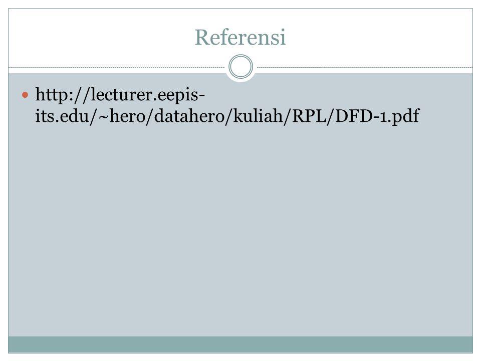 Referensi http://lecturer.eepis-its.edu/~hero/datahero/kuliah/RPL/DFD-1.pdf