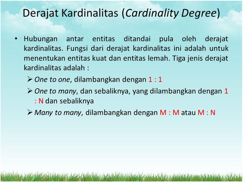Derajat Kardinalitas (Cardinality Degree)