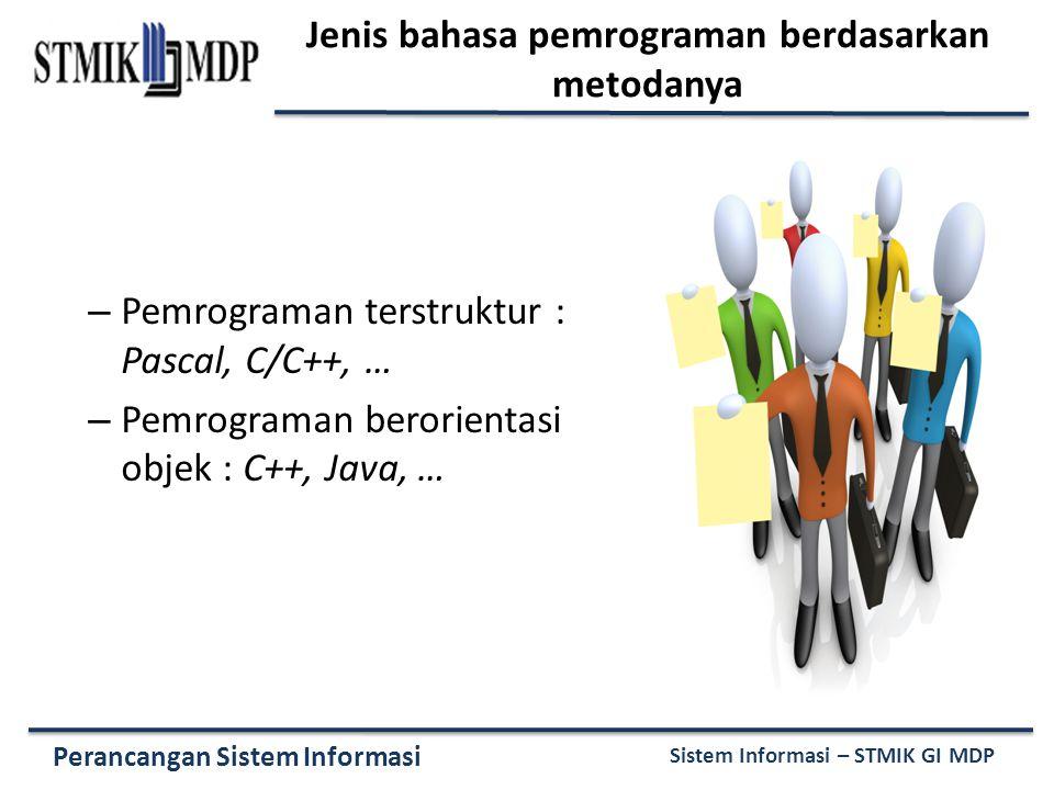 Jenis bahasa pemrograman berdasarkan metodanya