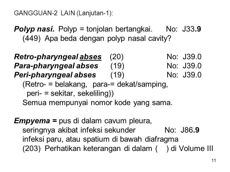 GANGGUAN-2 LAIN (Lanjutan-1):