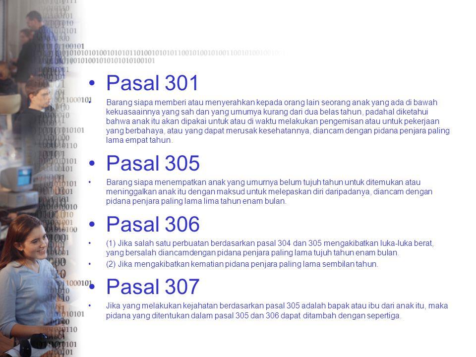 Pasal 301 Pasal 305 Pasal 306 Pasal 307