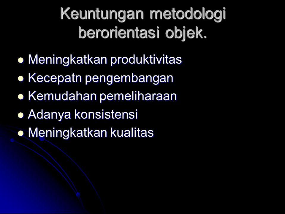 Keuntungan metodologi berorientasi objek.