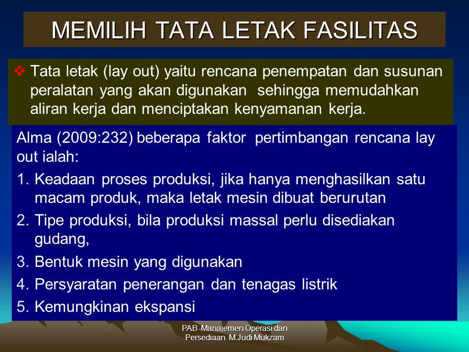 MEMILIH TATA LETAK FASILITAS