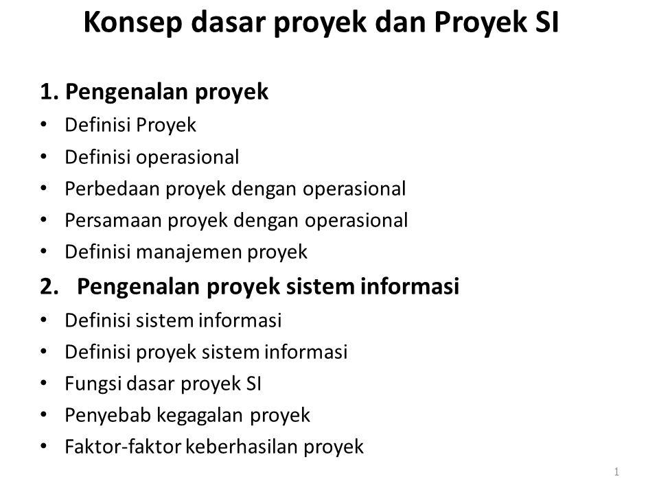 Konsep dasar proyek dan Proyek SI
