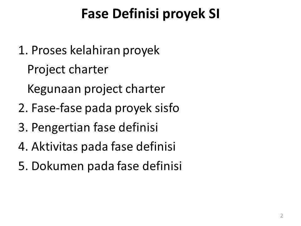 Fase Definisi proyek SI