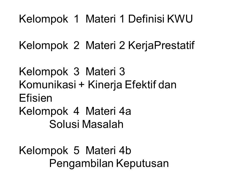 Kelompok 1 Materi 1 Definisi KWU