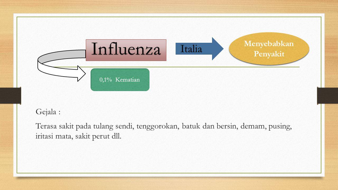 Influenza Italia Menyebabkan Penyakit