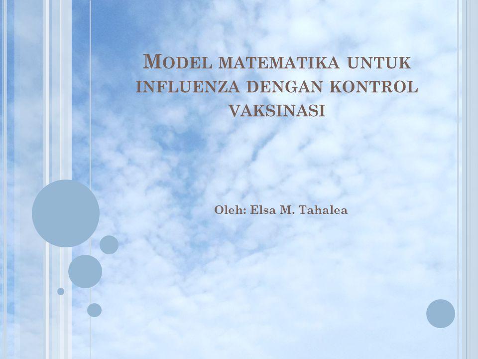 Model matematika untuk influenza dengan kontrol vaksinasi