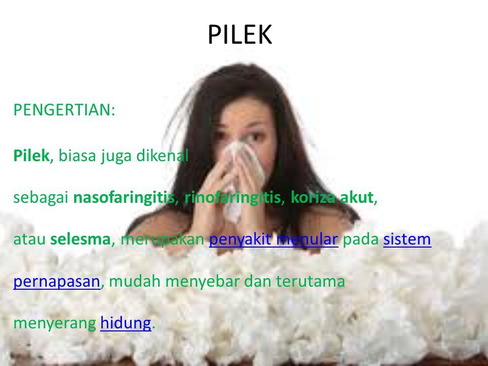 PILEK PENGERTIAN: