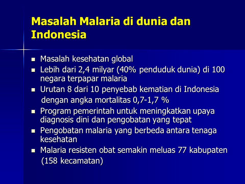Masalah Malaria di dunia dan Indonesia