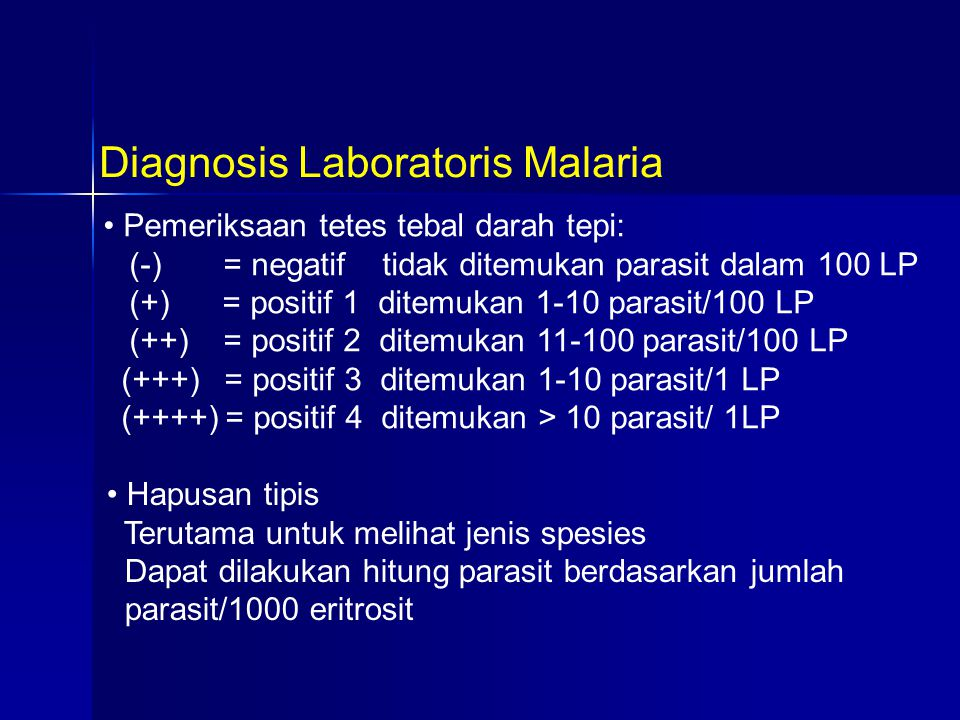 Diagnosis Laboratoris Malaria