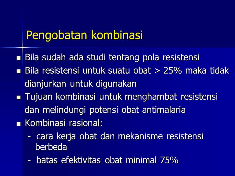 Pengobatan kombinasi Bila sudah ada studi tentang pola resistensi
