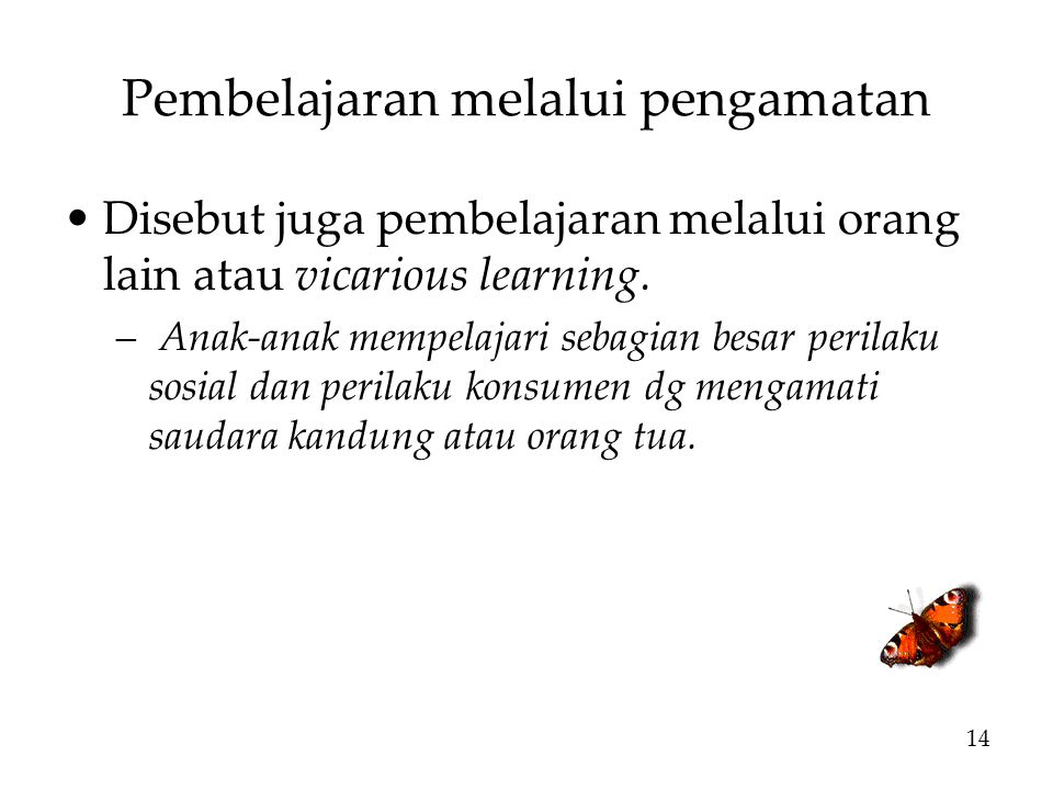 Pembelajaran melalui pengamatan
