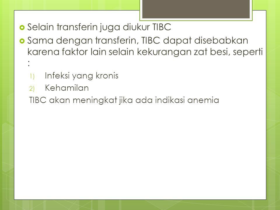 Selain transferin juga diukur TIBC