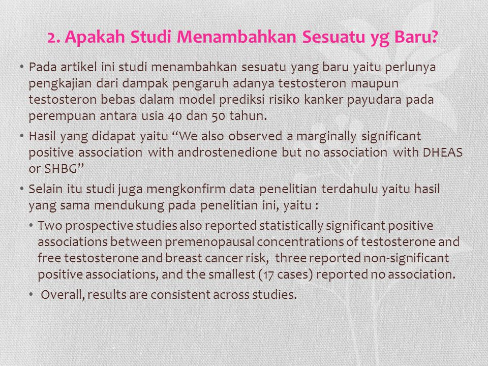 2. Apakah Studi Menambahkan Sesuatu yg Baru