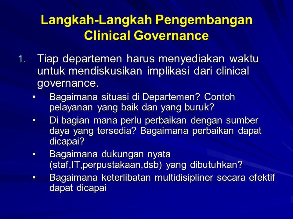 Langkah-Langkah Pengembangan Clinical Governance