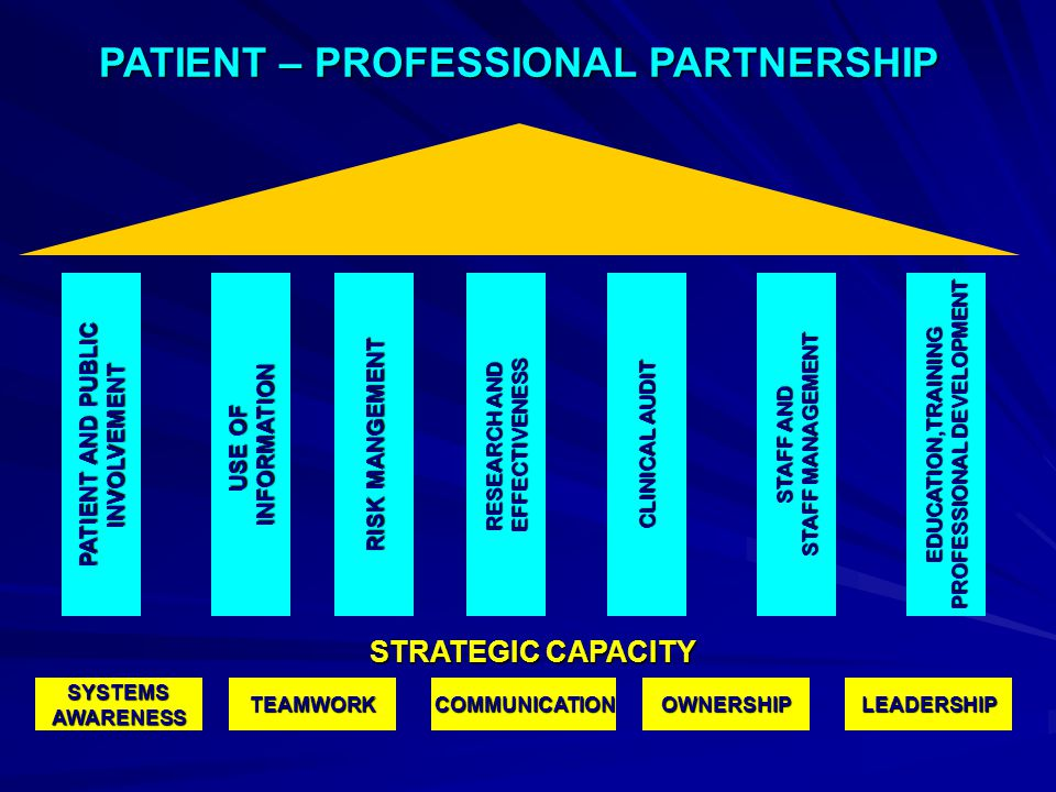 PATIENT – PROFESSIONAL PARTNERSHIP