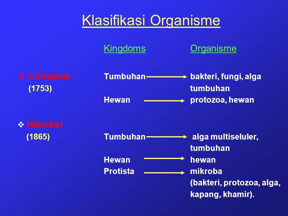 Klasifikasi Organisme