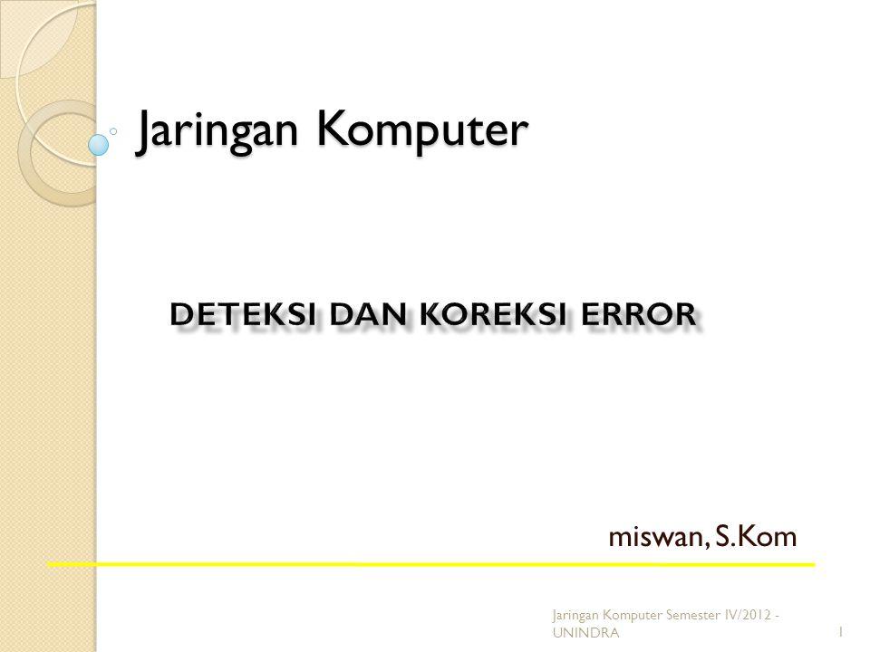 Deteksi dan koreksi error