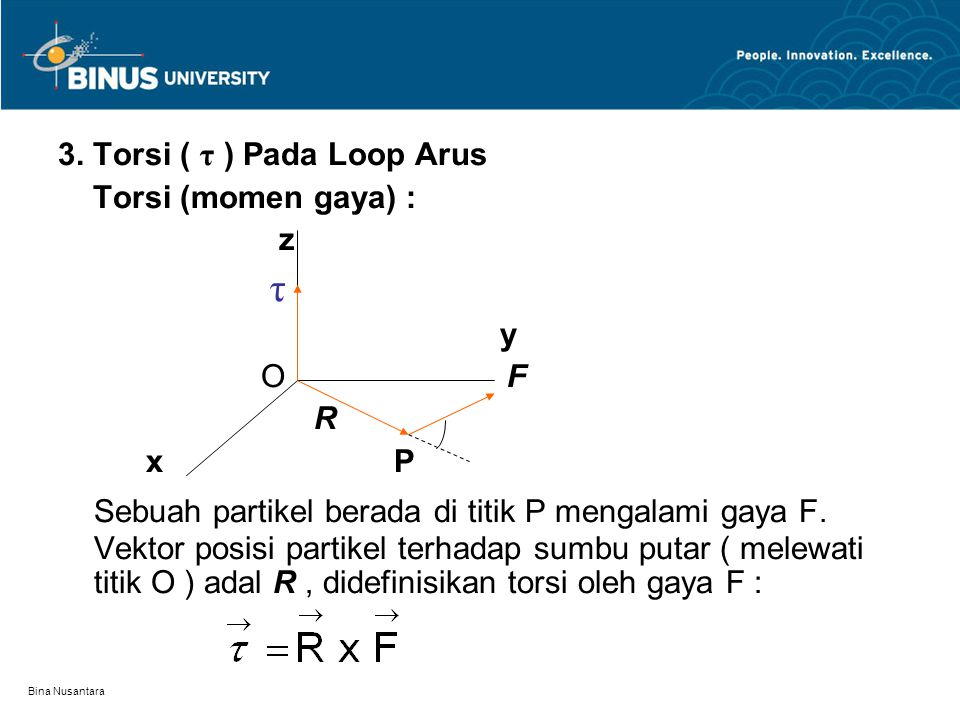3. Torsi ( τ ) Pada Loop Arus