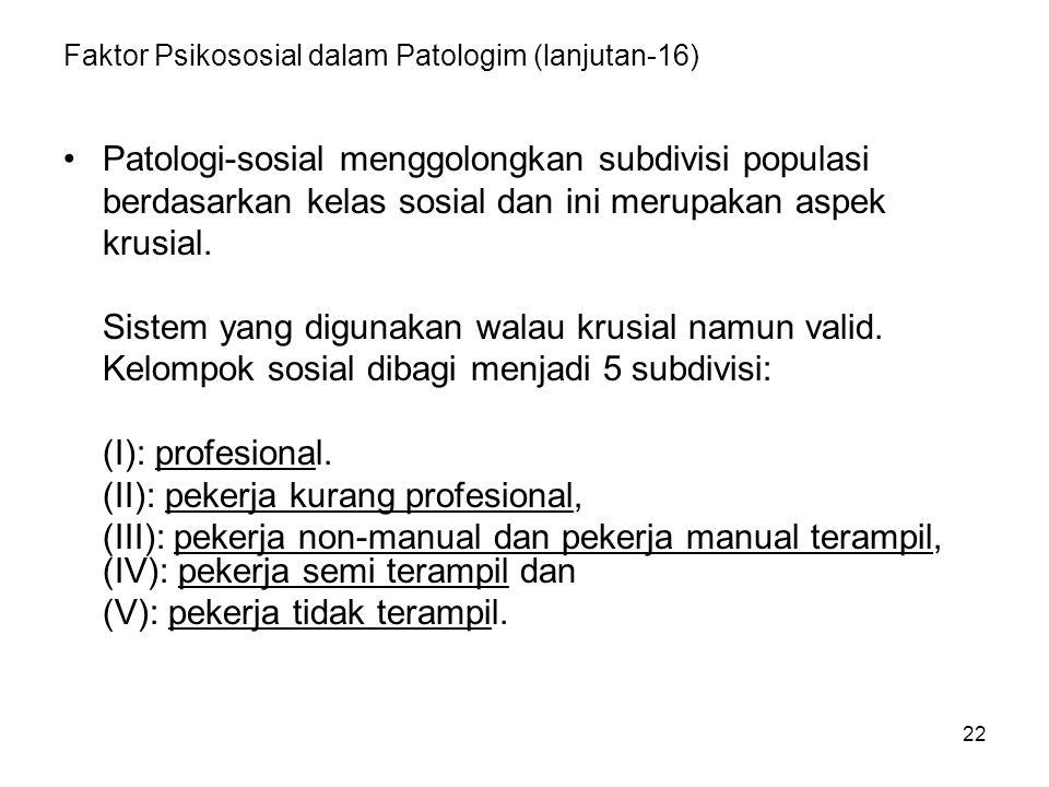Faktor Psikososial dalam Patologim (lanjutan-16)