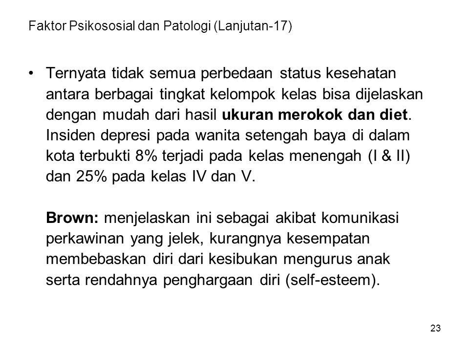 Faktor Psikososial dan Patologi (Lanjutan-17)