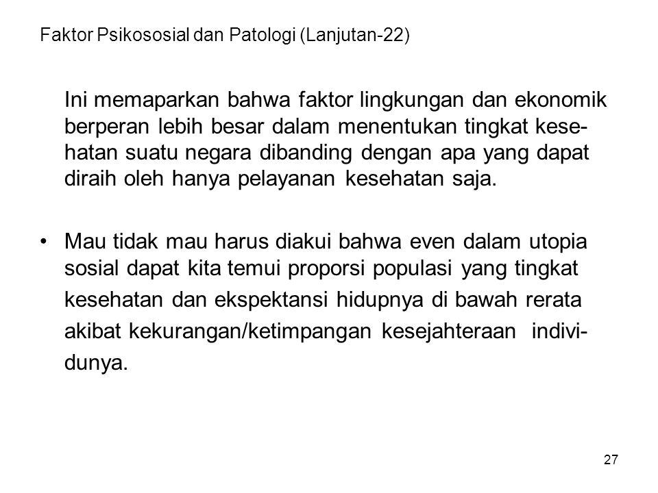 Faktor Psikososial dan Patologi (Lanjutan-22)
