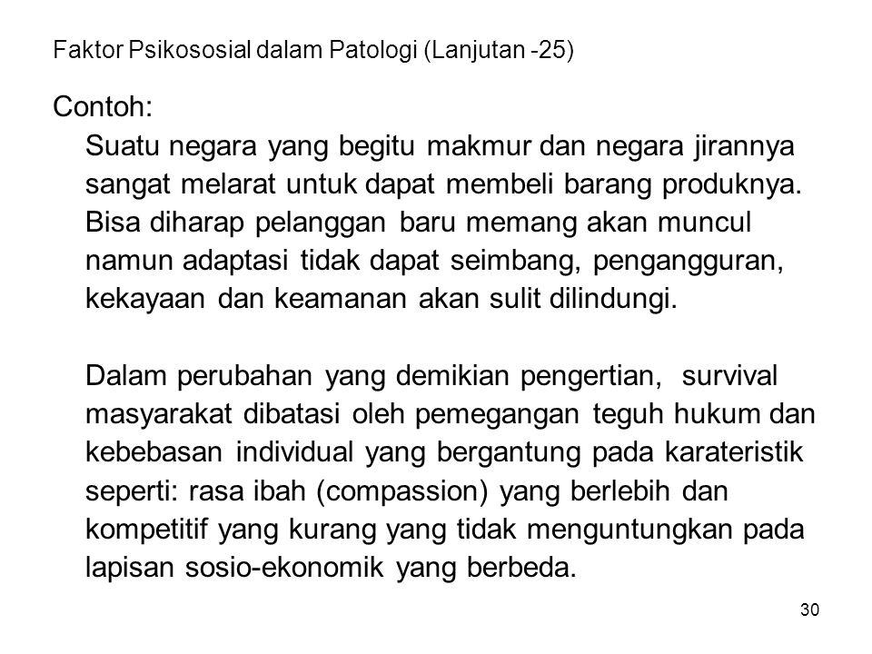 Faktor Psikososial dalam Patologi (Lanjutan -25)