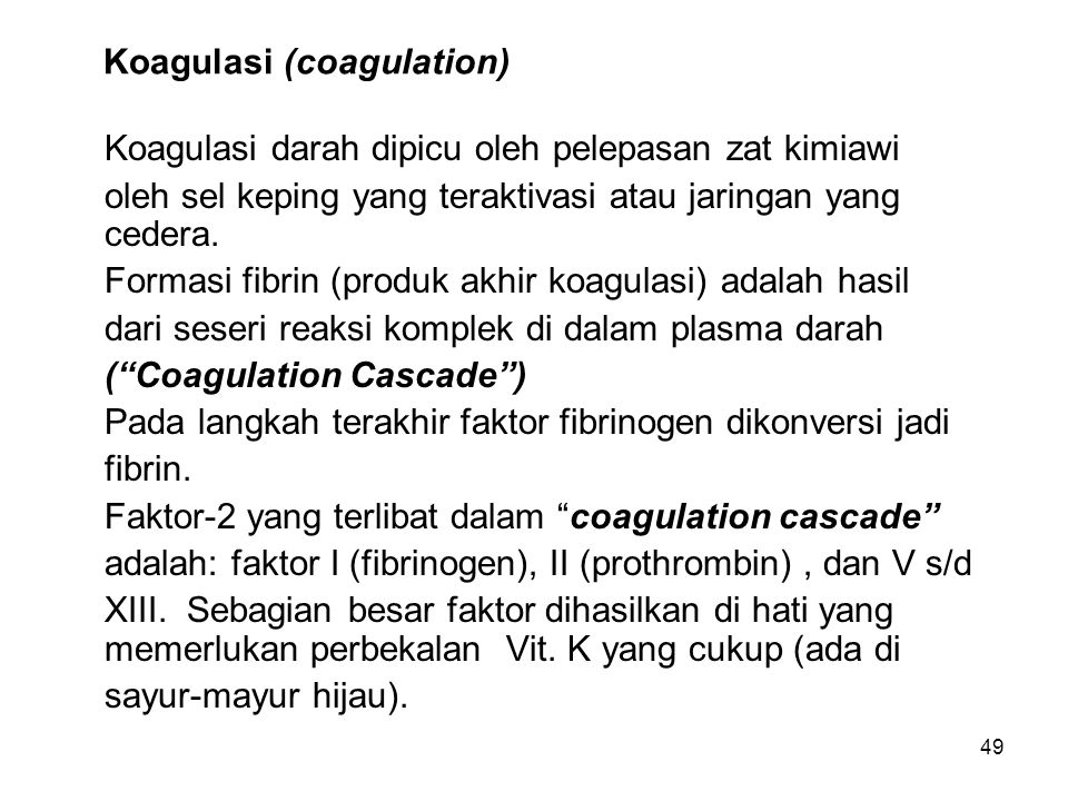 Koagulasi (coagulation)
