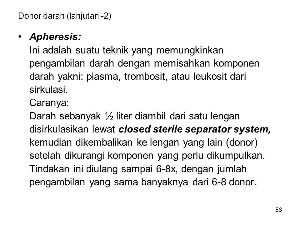 Donor darah (lanjutan -2)