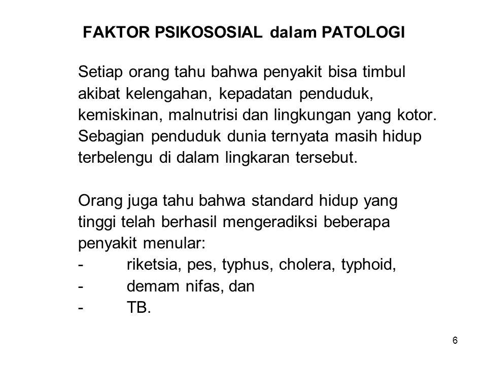 FAKTOR PSIKOSOSIAL dalam PATOLOGI