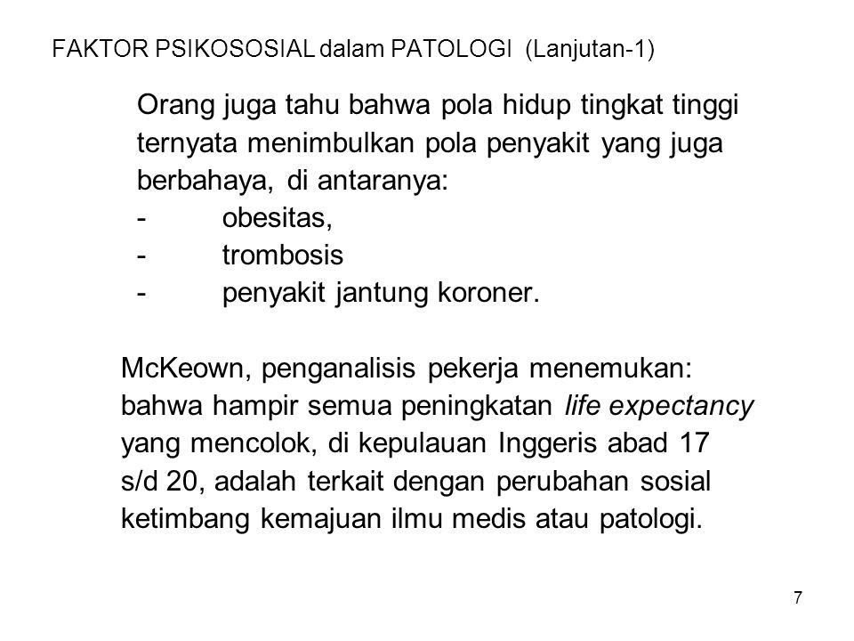 FAKTOR PSIKOSOSIAL dalam PATOLOGI (Lanjutan-1)