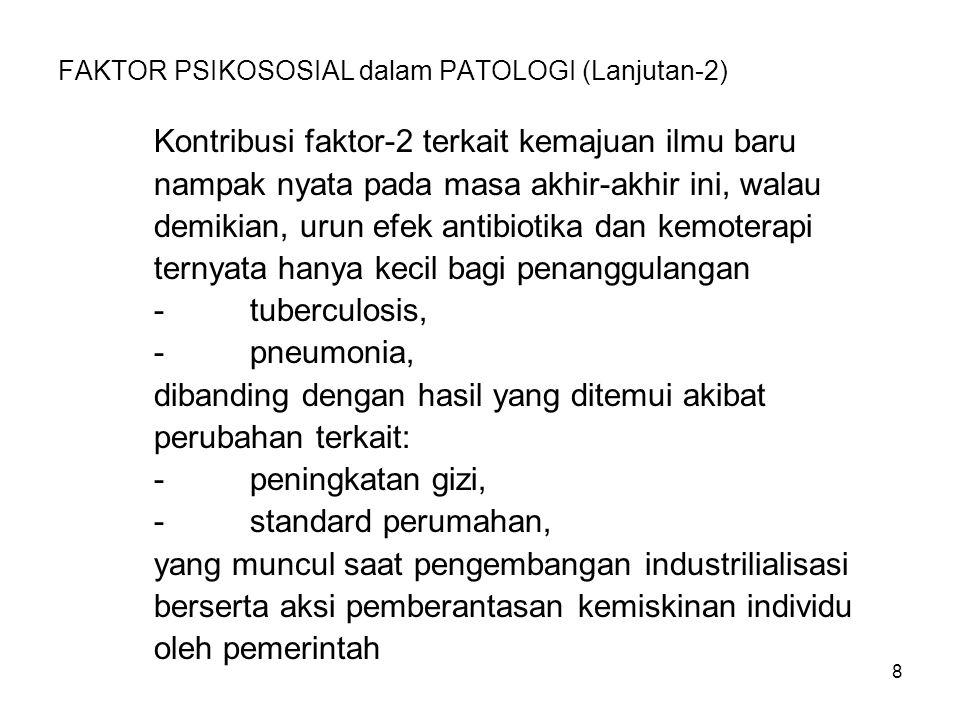 FAKTOR PSIKOSOSIAL dalam PATOLOGI (Lanjutan-2)