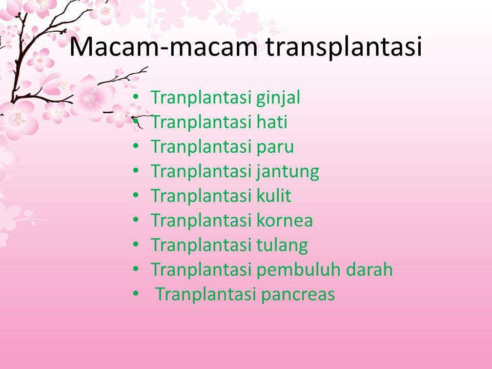 Macam-macam transplantasi