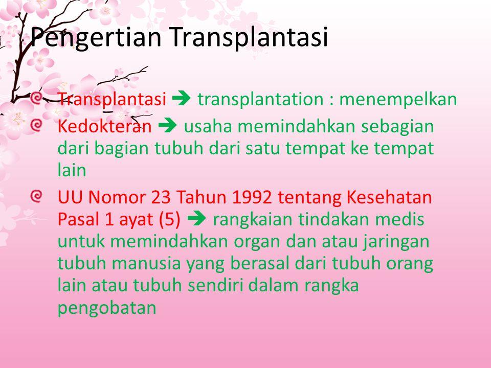 Pengertian Transplantasi
