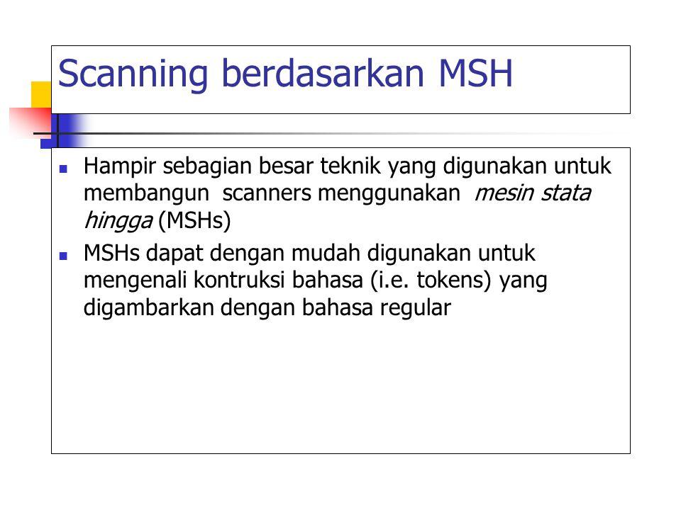 Scanning berdasarkan MSH