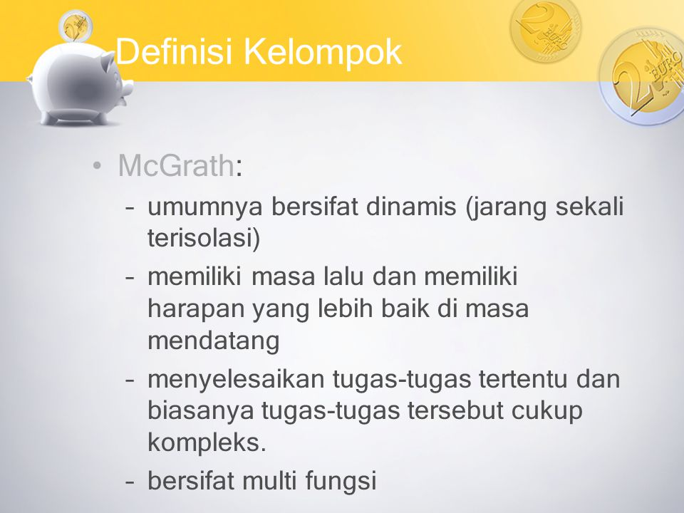 Definisi Kelompok McGrath: