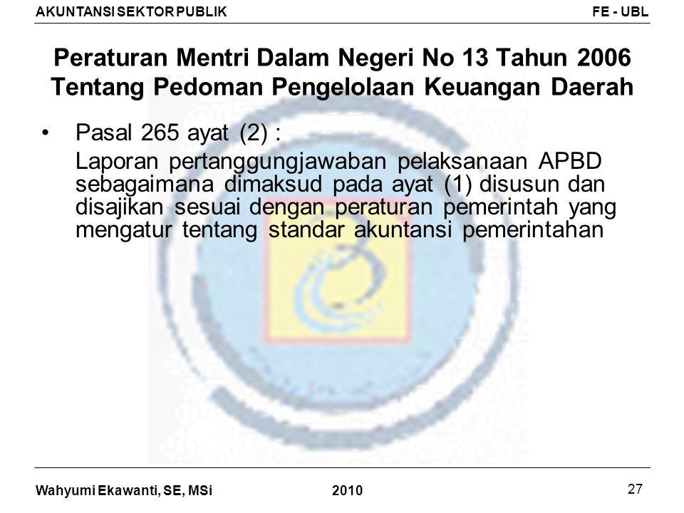 Peraturan Mentri Dalam Negeri No 13 Tahun 2006 Tentang Pedoman Pengelolaan Keuangan Daerah