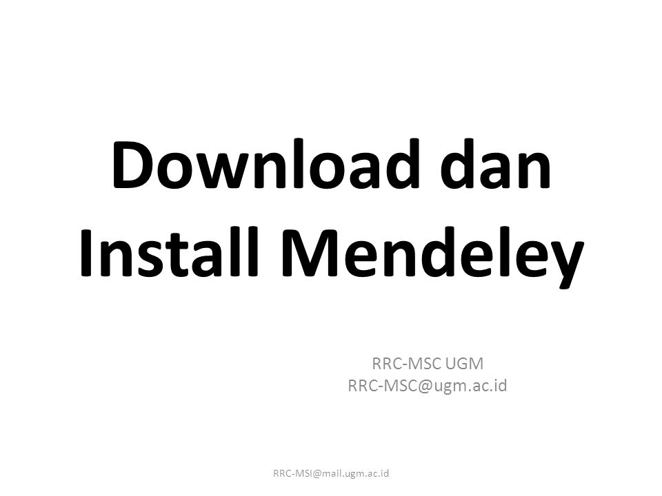 Download dan Install Mendeley
