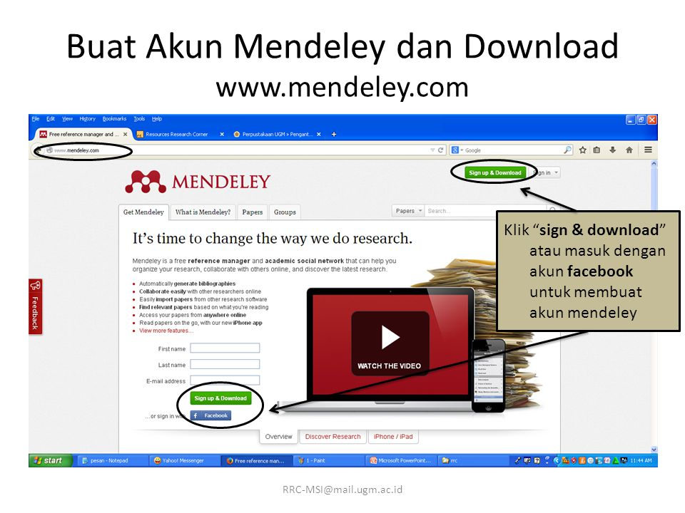 Buat Akun Mendeley dan Download www.mendeley.com