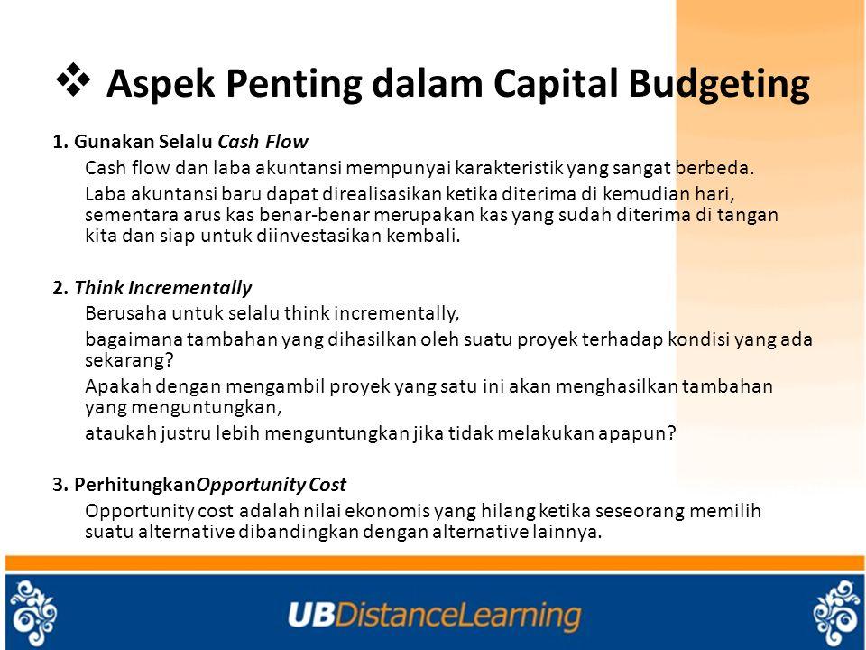 Aspek Penting dalam Capital Budgeting