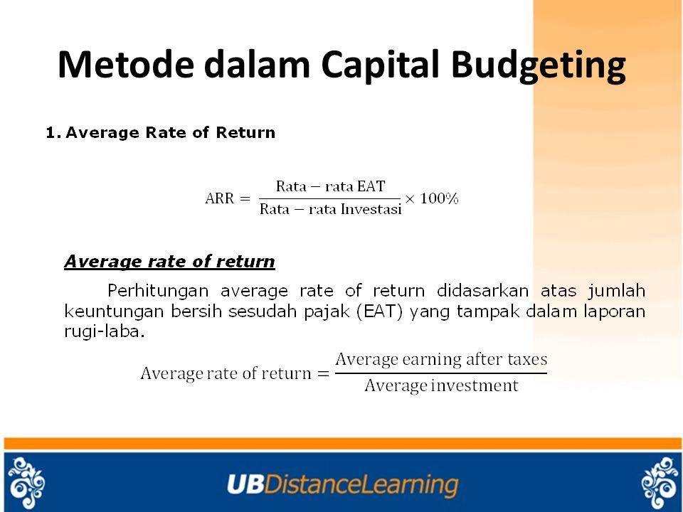 Metode dalam Capital Budgeting