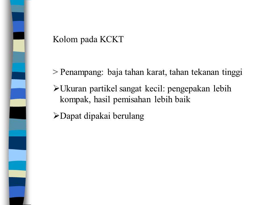 Kolom pada KCKT > Penampang: baja tahan karat, tahan tekanan tinggi.