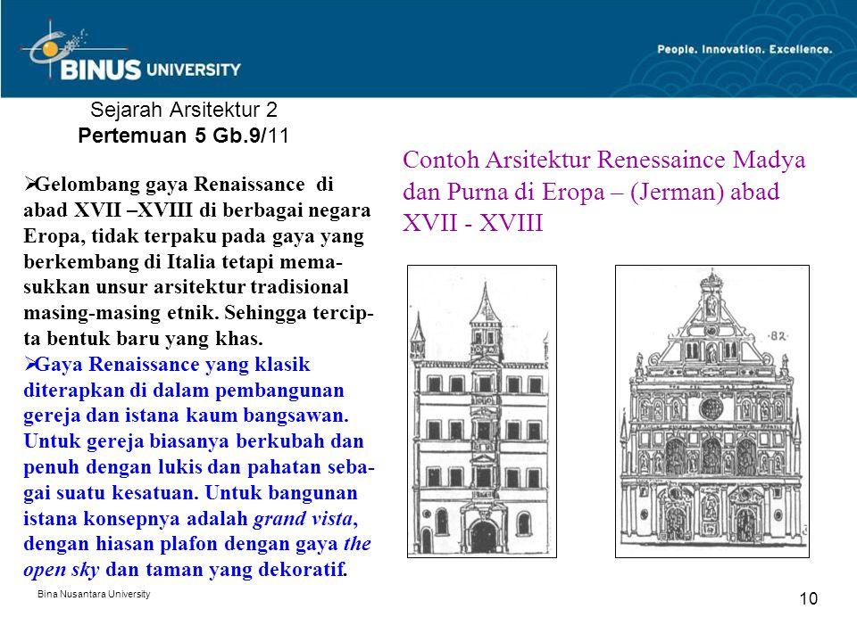Sejarah Arsitektur 2 Pertemuan 5 Gb.9/11