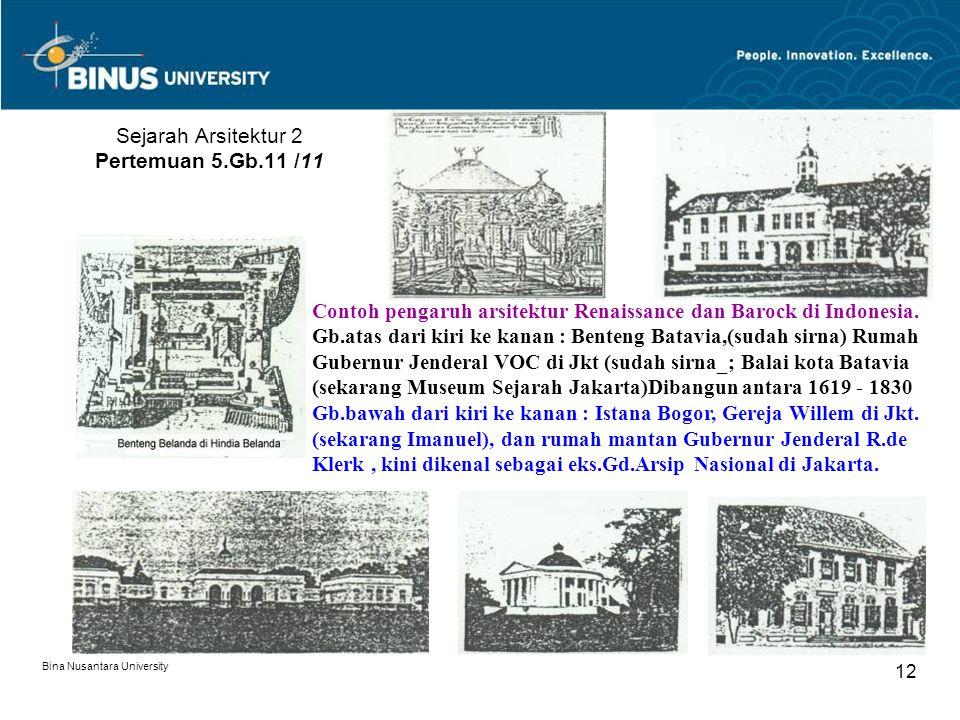 Sejarah Arsitektur 2 Pertemuan 5.Gb.11 /11